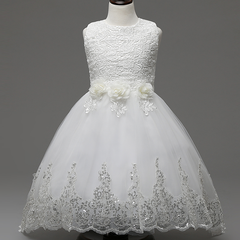 White Flower Girls Lace Tutu Dresses 2016 Girl Summer Communion Prom Evening Dress Children Princess Dress 3-12Y Kids clothes girl dress 2 7y baby girl clothes summer cotton flower tutu princess kids dresses for girls vestido infantil kid clothes