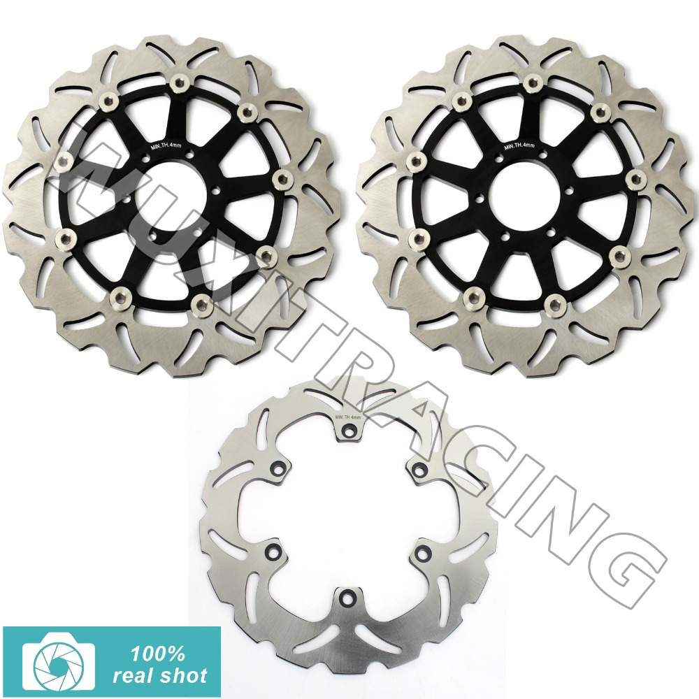 New Front Rear Brake Discs Rotors for FZR GENESIS 1000 87 88 89 FZR EXUP 1000 90 91 92 93 94 95 XJR 1200 95 96 97 XJR 1300 98