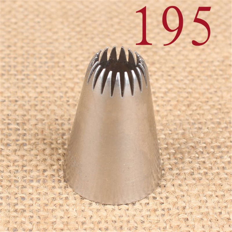 Premium Stainless Steel #195 Piping Nozzles Russian Style Cake Decor Head Home Baking Decoration Tips Cookies Pastry Tools