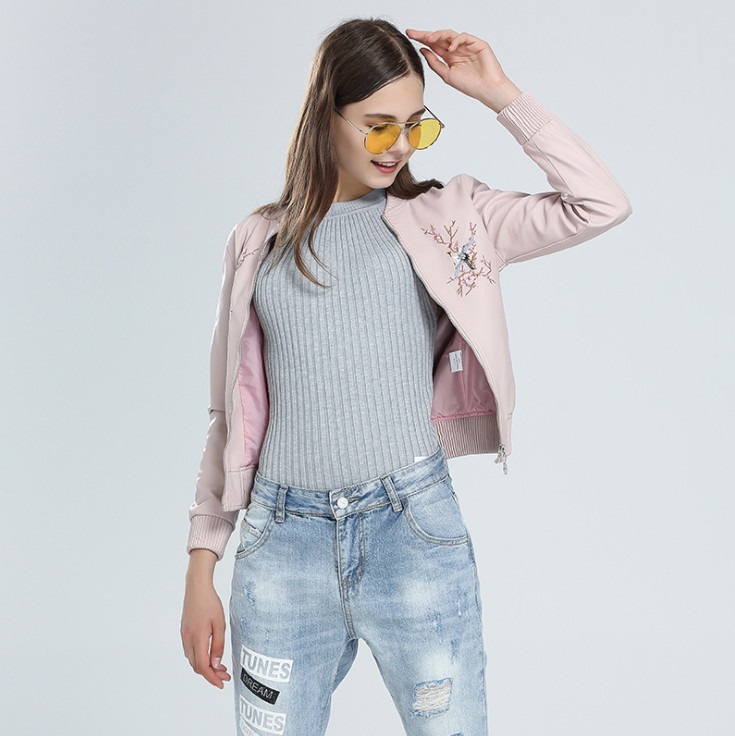 Veste Faux Survêtement Mode Couro Jaquetas Cuir Black Chaquetas pink Vestes De Moto Manteaux Casaco Pu Femmes 0q5Y0