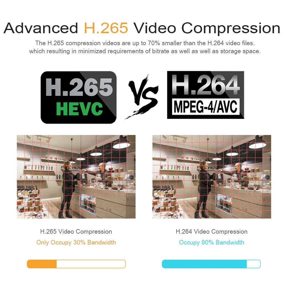 كاميرا Hiseeu 2MP POE IP H.265 كاميرا بشكل قبة 1080P للرؤية الليلية P2P كشف الحركة ONVIF ل PoE NVR 3.6 عدسة App عرض 30fps