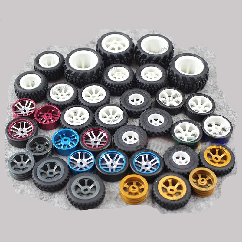 Wheel Tire  Hub  Rim  Skin For RC Model Car Spare Part Wltoys 1/28 Mosquito  P292 K969 K979 K989 K999 P929 P939