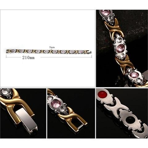Vnox Bio Energy Magnetic Women's Bracelet 4 in 1 Health Care Jewelry Improve Arthralgia Reduce Fatigue 2018 Femme Gift Islamabad