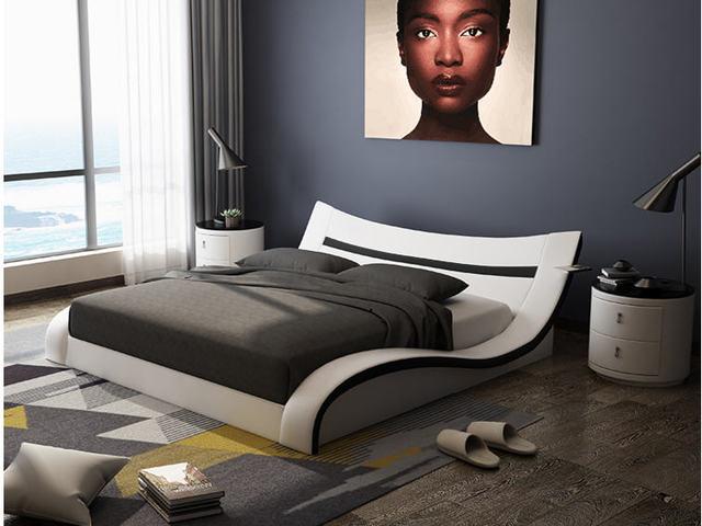 Genuine Leather Bed Frame   1