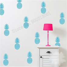 цены Wall Art Sticker 12 PCS Big Pineapple Cute Room Poster Small Pattern Diy Sticker Vinyl Removeable Mural Kidroom Baby Decal LY514