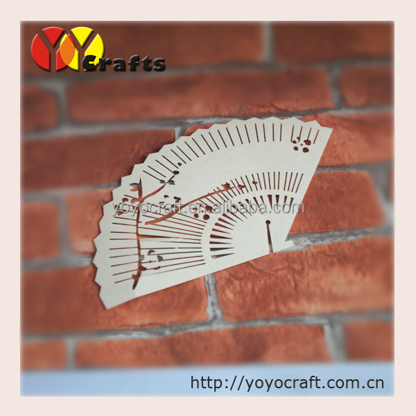 PLC037--wedding decoration place card ,fan shape place cards on wine glass free logo