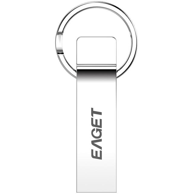 2017 Fantastic Arrival!100% EAGET U90 Silver USB 3.0 16GB 32GB 64GB Super Speed Flash Drives Metal Waterproof Gift USB3.0