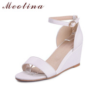 Big Size 9 10 Elegant Women S Sandals Summer Open Toe Party High Heel Wedges Female