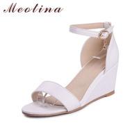 Big Size 9 10 Elegant Women S Sandals Summer Open Toe Party High Heel Wedges Female