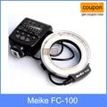 Meike fc-100 para canon, anel de flash macro/luz mk fc100 para canon 650d 600d 60d 7d 550d 1100d t4i t3i t3
