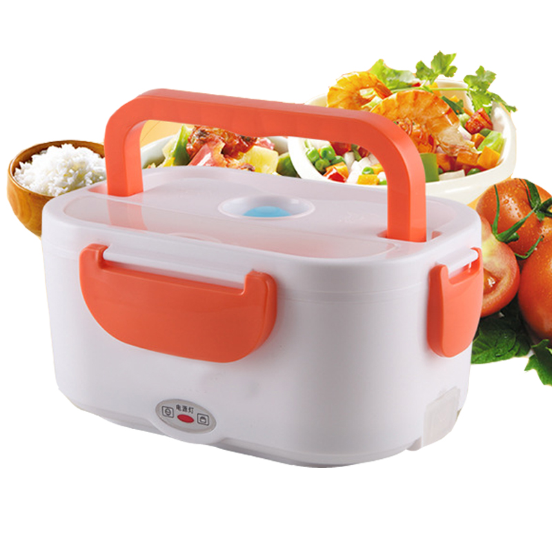 Портативный с подогревом Коробки для обедов для детей 220 В Электрический тепла двухслой ...