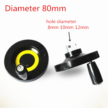 T10 10mm bore Trapezoidal Lead Screw hand wheel Diameter 63mm CNC cranking