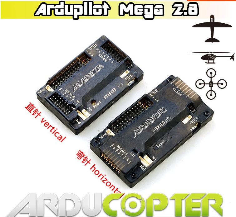 Free Shipping APM2.8 Flight controller Ardupilot Mega 2.8 flight controller vertical/horizontal,bent/straight pin for quadcopter