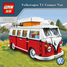 1354Pcs 2016 New LEPIN 21001 Creator Volkswagen T1 Camper Van Model Building Kits Minifigure Bricks Toys Compatible with 10220