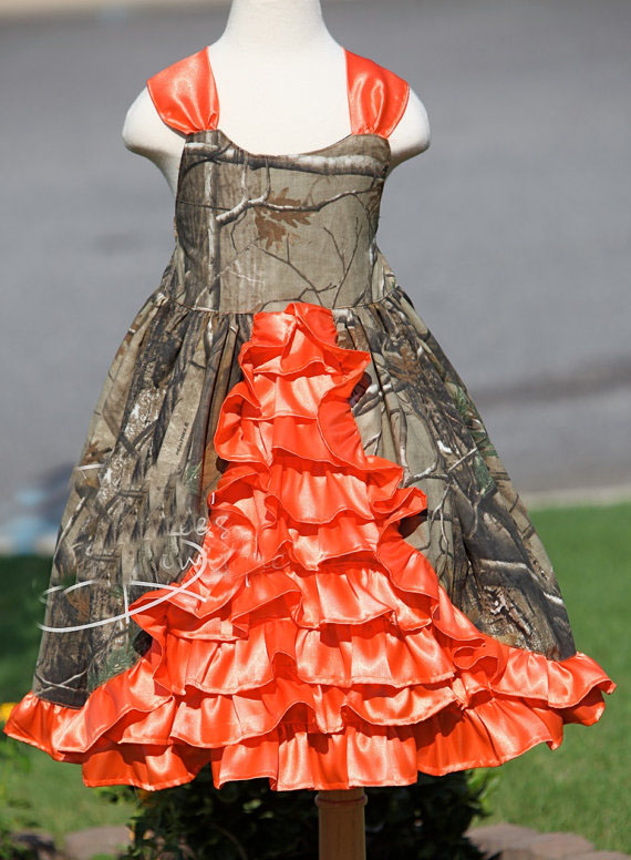 Camo Flower Girl Dresses Camouflage Pageant Gowns Long Kid Evening Gowns Free Shipping