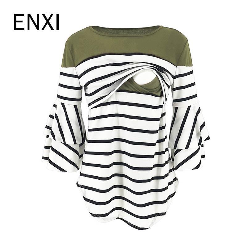 EGELEXY Womens Striped Maternity Dress Mama Causual Short Sleeve Wrap Dresses