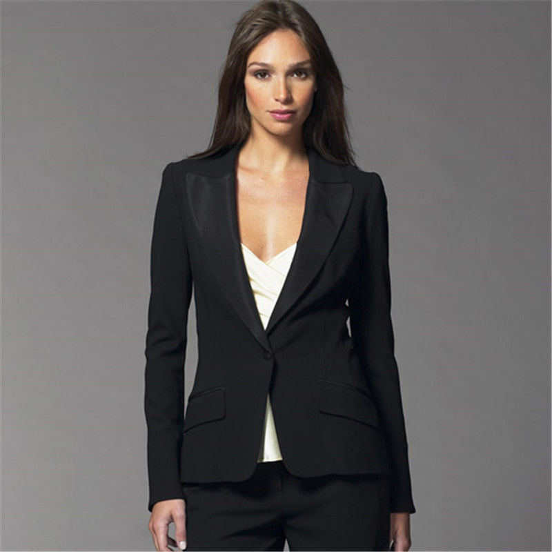 Здесь продается  Bespoke Black Women Evening Pant Suits Female Office Uniform Formal Tailoring Lady Trouser Suits B19  Одежда и аксессуары