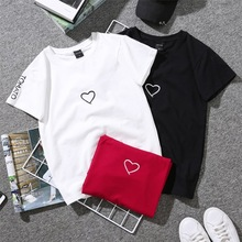 Fashion Couple T-Shirt Love Man Women Matching Shirts Family Hooded Outfit Clothes Husband and wife T Shirt Tops Costume tshirt