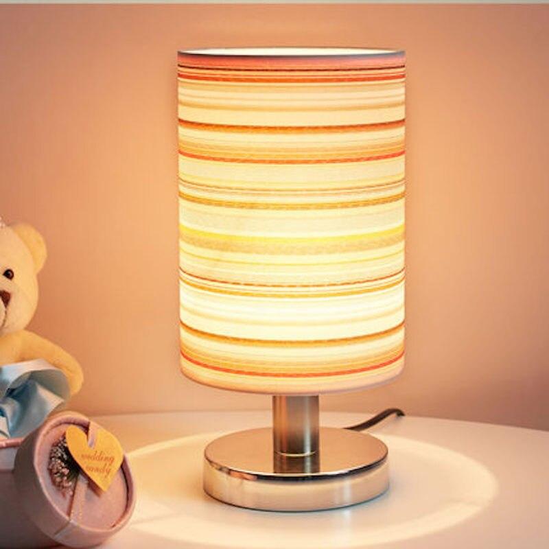 Wohnzimmer Nachttischlampe Botton Schalter Tisch Schreibtisch Lampe ...