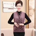 Autumn And Winter Elderly Mother Loose Sleeveless Sweater Vest