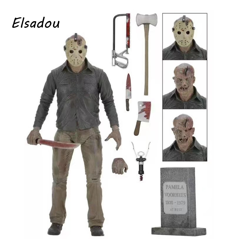 Elsadou Black Friday a Nightmare on Elm Street Jason Action Figure Toy Doll neca a nightmare on elm street 3 dream warriors pvc action figure collectible model toy 7 18cm kt3424