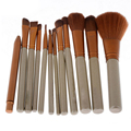 Pinceles de Maquillaje de oro 12 Unids Superior Profesional Soft Cosméticos Maquillaje Cepillo Conjunto Kit de Cepillos de Kabuki Pinceles de Maquillaje de la Mujer
