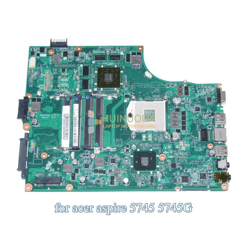 MBPU306001 MB PU306 001 For Acer aspire 5745 5745G Laptop Motherboard DA0ZR7MB8F0 HM55 DDR3 GT425M Discrete