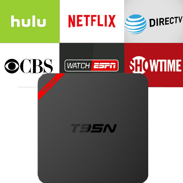 2018 Android T95N 6.0 TV Box with 1 year Netflix/HULU/Directv/CBS account warranty work in Set top box Smarttv smartPhone excook cbs 33