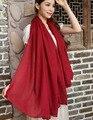 2015 de Alta qualidade muito macio sólida 50% viscose lenço 50% algodão plain maxi elasticidade xales pashmina para a Primavera Outono Inverno
