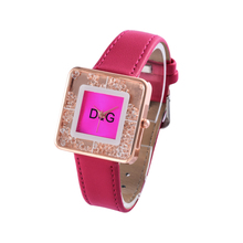 Relogio Feminino New Luxury Brand Rectangle Dial Rolling Beads Quartz Watch Women Leather Strap Watches Ladies Hot Clock Orologi