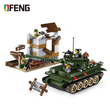Military War Tiger Tank Building blocks vehicle Helicopter Truck model Bricks  soldiers compatible Children Toys Gifts