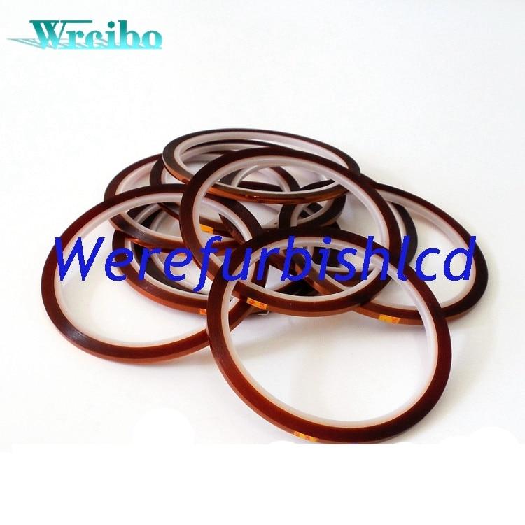 bilder für Wrcibo 5mm x 30 mt Hochtemperatur Heat Resistant Polyimid Klebeband für sublimation transferpresse maschine für iphone reparatur