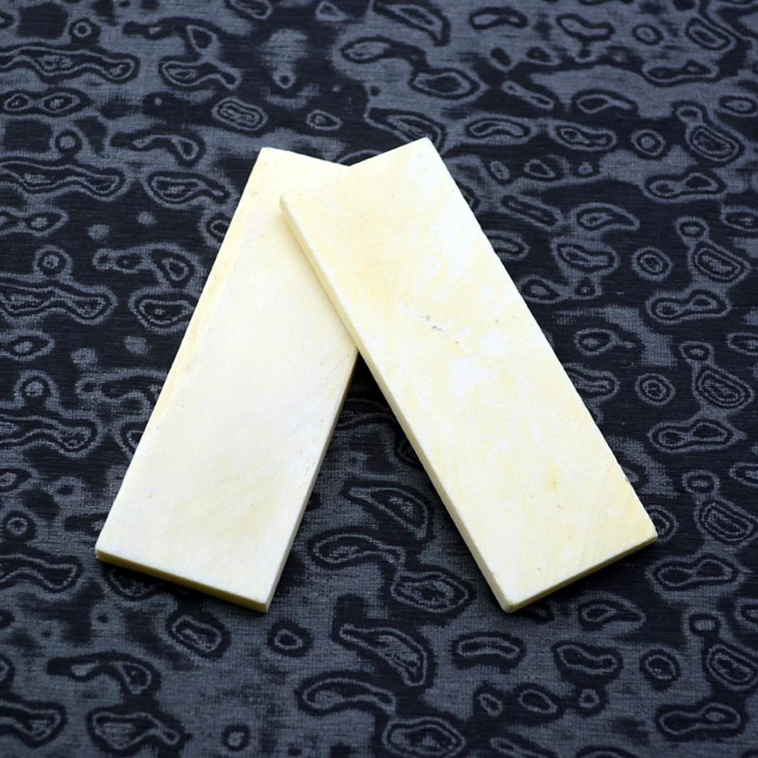 2pcs EDC DIY Handworking Buffalo Bone Sheet Engraving Bovine Bone Knife Handle Sheet