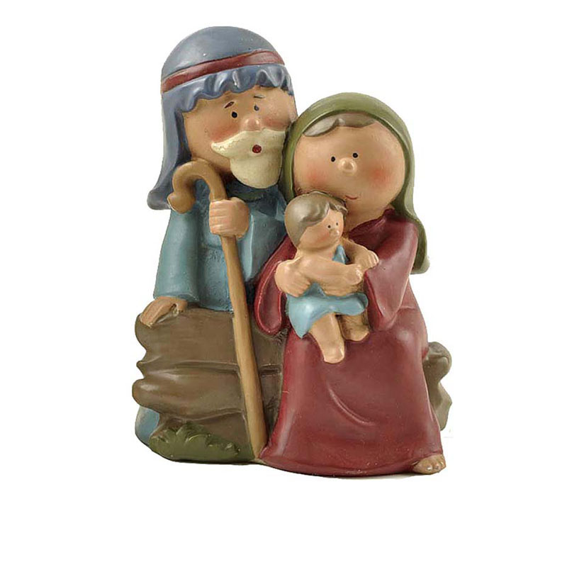Joseph Mary And Mini Jesus Christ Born Family Figurines Holy Communion Decoration  Resin Christian Nativity Set  Baby Baptism