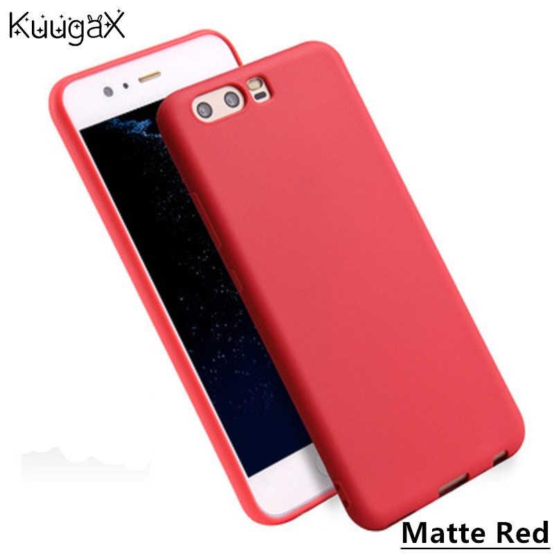 Kuuga X Matte Kẹo Silicone Case Cho Honor 7X 6A 9 8 6X Mềm TPU Bìa Cho Huawei P10 P9 P8 Lite 2017 Nova 2 s 2 Cộng Với Điện Thoại túi