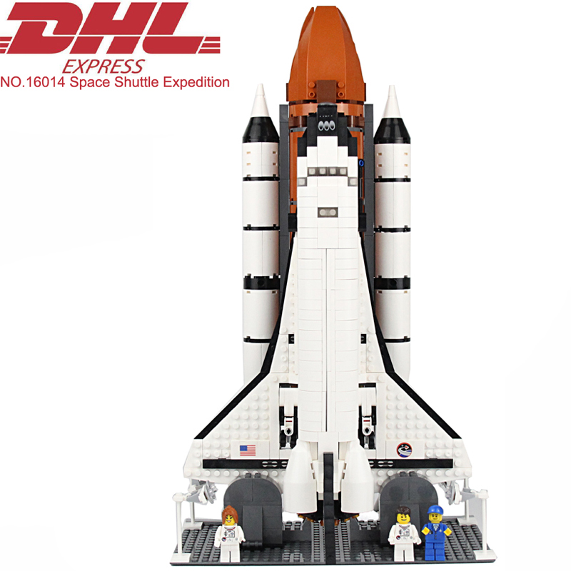 Lepin 16014 Movie Figures 1230Pcs Space Shuttle Expedition Model Building Kits Blocks Bricks Toys For Children Compatible 10231 space series discovery space shuttle bricks toys mini children educational building blocks toys compatible legoed