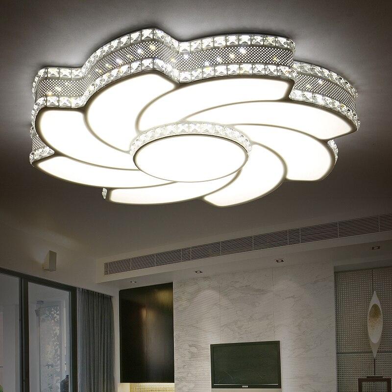 Creative Cristal Plafonniers Moderne Lampe Salon Lampe Pour La Maison Chambre Restaurant Avec Rc Moderne Led Plafond Eclairage Aliexpress