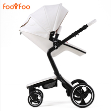 2 in 1 baby stroller leather foofoo baby luxury fashion for