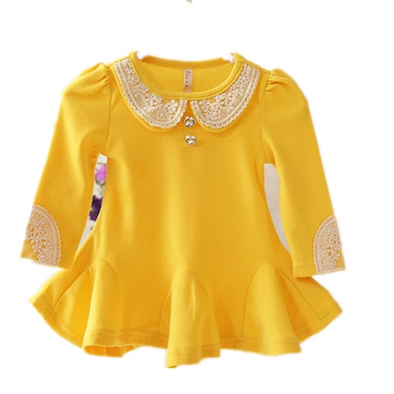 Newborn Baby Girl Dress Baby Dress 2017 Fashion Long Sleeve Baby Clothes Girl Infant Dress vestidos