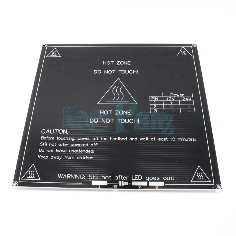 Free shipping 3D printer heatbed Heat bed MK3 standard aluminum plate 3mm hot bed reprap
