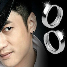 Hot Sell Sterling Silver Smooth Unisex Fashion Earring Jewelry