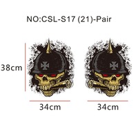 motorcycle car truck universal decal sticker cool skull head vinyl vehicle body decoration decals film with removable adhesive