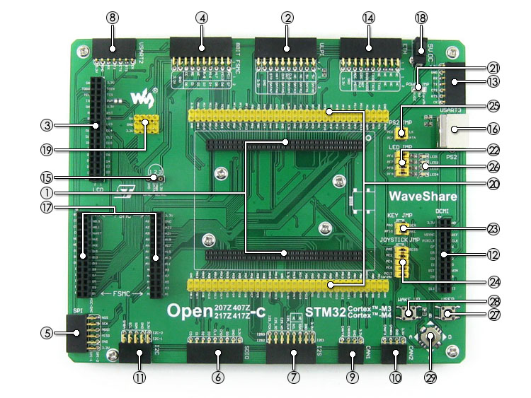 STM32F407ZxT6 development board on board resource