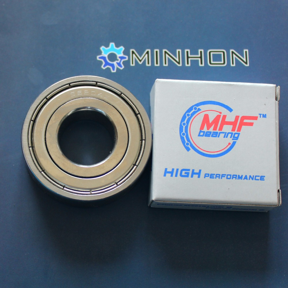 Free Shipping 1pc 6204ZZ 6204 MHF Miniature Deep Groove Ball Bearings Size 20x47x14 Mm Best Price High Performance