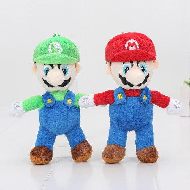 16 Cm Super Mario Knuffels Met Haak Mario Bros Luigi Pluche Pop