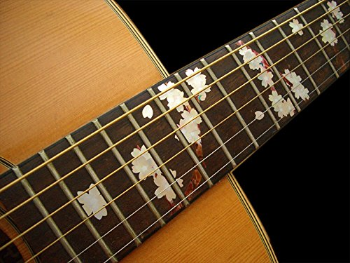 Fretboard Markers Inlay Sticker Decals - Sakura Cherry Blossom for Guitar fretboard markers inlay sticker decals for guitar bass space invaders white pear color