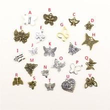 20Pcs Wholesale Bulk Accessories Parts Butterfly Mix Pendant Fashion Jewelry Making HK033