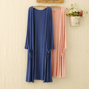 New European Women Thin Kimono Cardigan Long Sleeve Loose Side Split Long Cardigan Shawl Women Outerwear Sunscreen Clothing D151