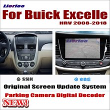 цены Liorlee Car Screen Update Decoder system For Buick Excelle HRV 2008-2018 Parking Rear view Camera Carplay Interface Adapter Plug