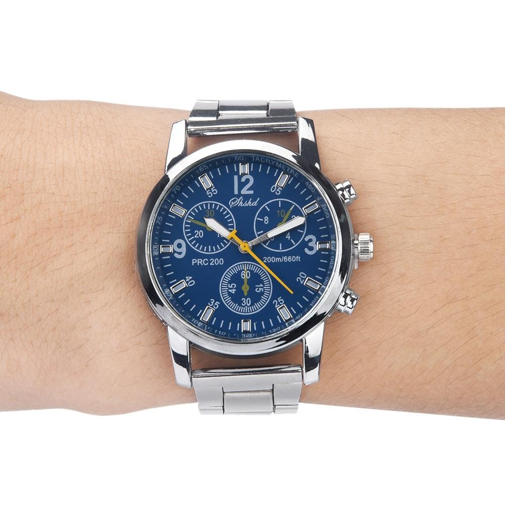 Men Quartz Watch Luxury Brand Business Stainless Steel Fashion Neutral Analog Wristwatch Steel Band Watch 6